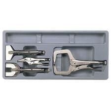 Teng Tools 4 Piece Welding Pliers Set - Locking Pliers + Tray C Clamp Welding