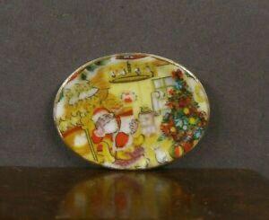 PORCELAIN  PLATTER ~ Dollhouse Mini ~ England ~ 1:12 scale ~ Marked ~ Christmas