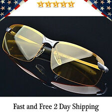 HD Night Vision Polarized Glasses Driving Aviator Sunglasses New UV400 Eyewear