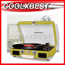 CROSLEY CRUISER RETRO CASE TURNTABLE RECORD PLAYER AUX IN 8005A-GR