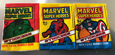 More details for topps ireland marvel super heroes wax gum wrappers set of 3 ex