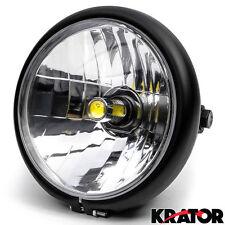Black LED Headlight w/ Running For Honda Gold Wing Goldwing GL 500 650 1000 1100