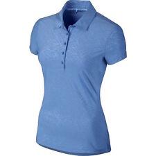 Nike Golf Women's M Medium Precision Emboss Golf Polo Shirt Top Blue 725627