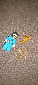 lego forestman minifigure with bow and arrows