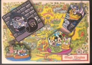 Walt Disney World 50th Anniversary Fantasy Pin Bundle 4 Opening Day Rides Pins