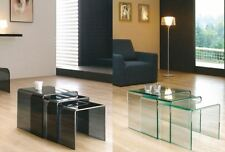 Glass Less than 60cm No Assembly Required Nested Tables