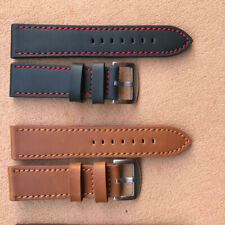 18/20/22/24mm Genuine Leather Writst Watch Band Replacement Strap Band