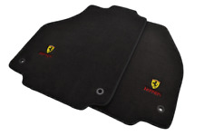 Floor Mats For Ferrari 458 Coupe Black Tailored Carpets Set With Ferrari Emblem