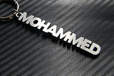 MOHAMMED Personalised Name Keyring Keychain Key Fob Bespoke Stainless Steel Gift