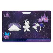 Disney 2020 The Main Attraction Minnie Mouse Space Mountain January Pin Set of 3
