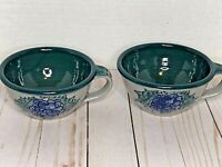 Great Bay Pottery Lot of 2 Soup Mugs Bowls with Handles Rye, NH EUC! Gift Giving