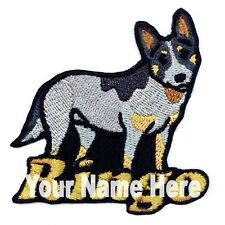 Australian Cattle Dog Custom Iron-on Patch With Name Personalized Free