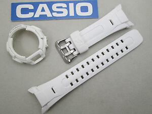 Genuine Casio G-Shock GW-M850 GW-M850-7 GWM850 GWM850-7 watch band & bezel white