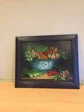 Oil Painting Of Vegetables, Black Frame, Delightful