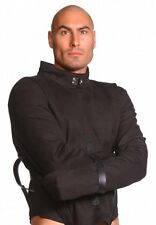 Strict Leather Black Canvas Straitjacket Extra Large ST900 Straight Jacket REAL!