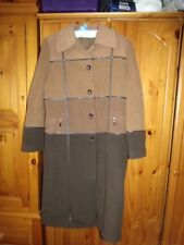 Faze Ladies Brown Multi Full Quilted Lining Length Wool & Cashmere Coat 16