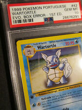 PSA-10 Pokemon (Evo Box) ERROR/MISPRINT (Portuguese) WARTORTLE Card BASE #42/102