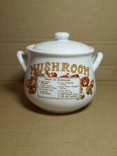 Vintage Midwestern Home Products Mushroom Soup Canister w/ Lid Handles Bean Pot