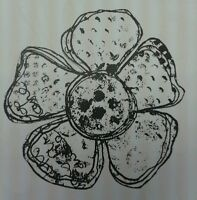 Unmounted Rubber Stamp Grunge Flower