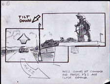 DRAGNET 1987 ORIGINAL STORYBOARD ART DAN AYKROYD TOM HANKS 90 PAGES CAR CHASE