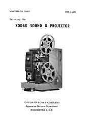 Kodak Sound 8 Movie Projector Models 1 and 1E Service and Parts Manual