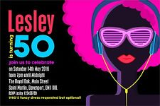 1980's Party Invitations - Adult Birthday, 21st, 30th, 40th, 50th etc any age
