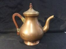 """Collectable Vintage Argy Copper Coffee Pot with Wooden Handle 9"""""""