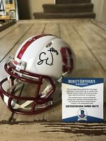Solomon Thomas Autographed/Signed Mini Helmet Beckett COA Stanford 49ers Soloman