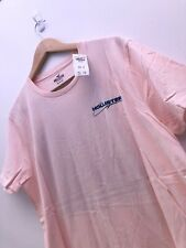 Hollister Mens Print Logo Graphic T-Shirt Tee Crew Neck Pink M RRP £19