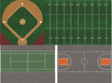 N Scale Sports Fields - Baseball Football Basketball Tennis for Model Trains