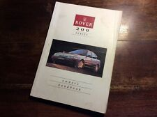 Rover 200 series owners manual