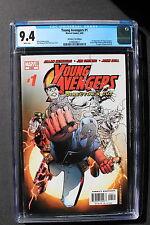 YOUNG AVENGERS #1-B 1st New Team KATE BISHOP Hawkeye 2005 1st Print CGC NM 9.4