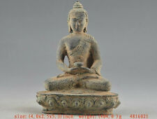 Unique ! Chinese Old Bronze Collectable Buddha Statue