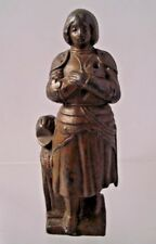 Joan Of Arc Lead Pewter ? Figure Maid Of Orleans French Heroine Vintage Antique