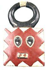 Art Africain Tribal - Ancien Masque Passeport Goli Baoulé - Afrique - 28 Cms