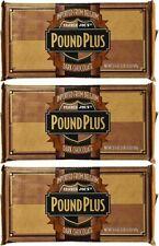 3 HUGE TRADER JOE'S BELGIUM POUND PLUS DARK CHOCOLATE BAR OVER 1 Lb EACH