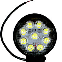 Faro faretto luce rotondo 9 LED 27W auto car jeep fuoristrada supplementare C9L
