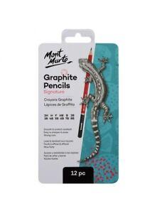 Mont Marte Graphite Pencils 12pce Signature Premium Quality Drawing Set
