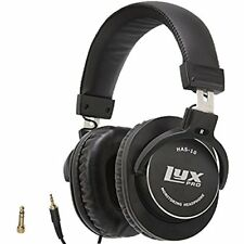 LyxPro HAS-10 ClosedBack OverEar Professional Studio Monitor & Mixing Headphones