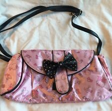 Hello Kitty Sanrio Pink & Black Crossbody/shoulder Handbag Purse Wallet