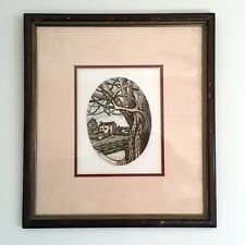 """Original Polly Chase """"Bird in a Tree"""" Aquatint Etching"""