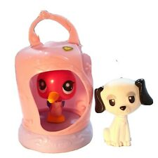 Hasbro Littlest Pet Shop Bird in Cage 2009 and Mannix Bobble Head White Dog Lot