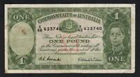 Australia R-32. (1952) 1 Pound - Coombs/Wilson.. King George VI..  gVF - Crisp