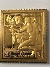 Silver Medaille Timbre :  Pour Les Invalides. Belge Belgique Medal Argent