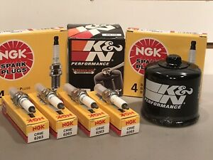 Suzuki GSX-R 750 Tune Up 4 NGK Spark Plugs & K&N Oil Filter GSX-R750 GSXR 94/09