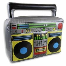 INFLATABLE RAP BOOM BOX RADIO FANCY DRESS PARTY TOY CHRISTMAS STOCKING FILLER
