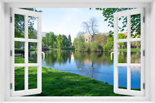 Wandillusion Wandbild FOTOTAPETE Fensterblick Natur Landschaft PVC/VLIES  kr-167