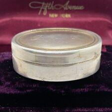 Vintage Rino Greggio 800 Italy Silver Pill Snuff Box Monogrammed PTC