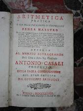 1778 - Fermo - Spinucci Giuseppe , Aritmetica pratica