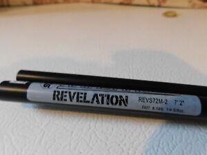 "Rainshadow  REVS72ML satin black 7' 2"" 6-12 lb 2 pc. blank for rod building"